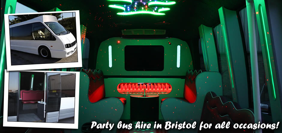 Party bus interior graphic